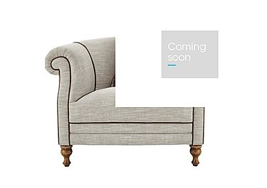 New England Hartford Fabric Armchair in Mrch Lin Wht Sand Con-Pipe Wof on Furniture Village