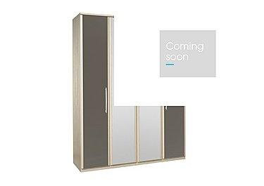 Kingsley 4 Door Centre Mirror Bi-fold Wardrobe in Atv - Tristan Grey on Furniture Village
