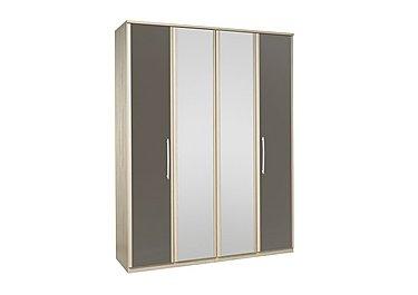 Kingsley 4 Door Centre Mirror Bi Fold Wardrobe