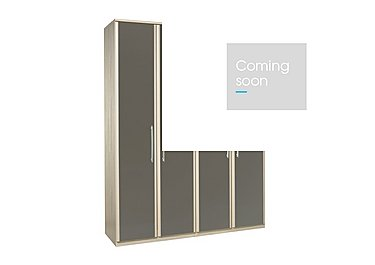 Kingsley 4 Door Wardrobe in Atv - Tristan Grey on Furniture Village