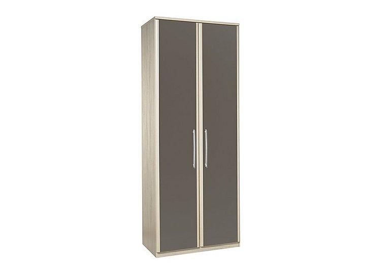 Kingsley 2 Door Wardrobe in Atv - Tristan Grey on Furniture Village