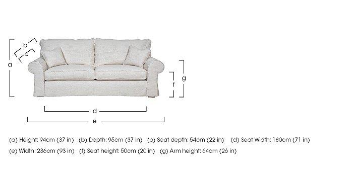 Portobello 3 Seater Fabric Sofa in  on Furniture Village