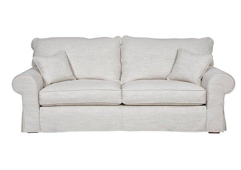 Portobello 3 Seater Fabric Sofa in Camille Ivory on Furniture Village
