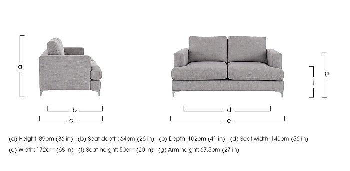 Sofia 2 Seater Fabric Sofa in  on Furniture Village