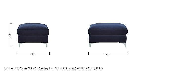Sofia Fabric Footstool in  on Furniture Village