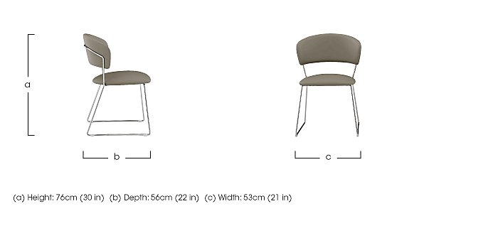 Eminence Pair of Dining Chairs in  on Furniture Village