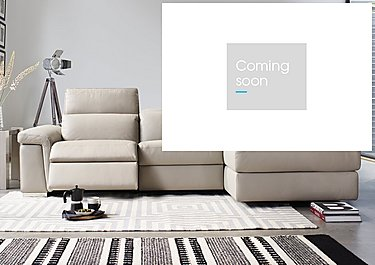 Movimento Leather Recliner Corner Chaise in  on Furniture Village