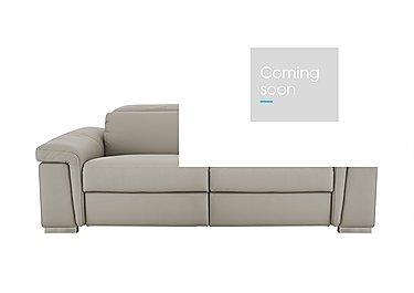Movimento 2 Seater Leather Sofa in Torello 328 Tortora on Furniture Village
