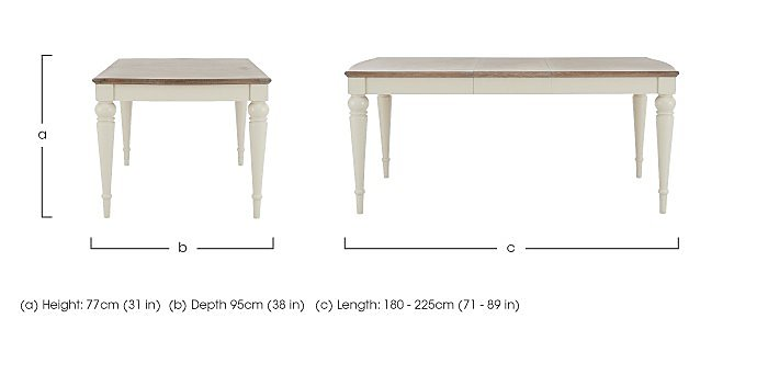 Annecy Large Extending Dining Table in  on Furniture Village