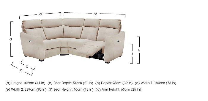 Compact Collection Midi Fabric Recliner Corner Sofa in  on Furniture Village