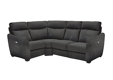 Compact Collection Midi Fabric Recliner Corner Sofa in Bfa-Blj-R16 Grey on Furniture Village