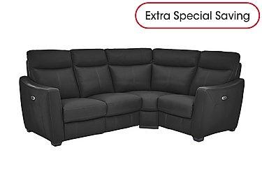 Compact Collection Midi Leather Recliner Corner Sofa