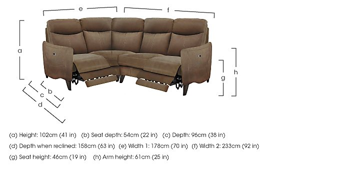 Compact Collection Petit Fabric Recliner Corner Sofa in  on Furniture Village