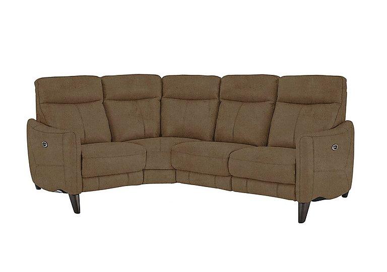 Compact Collection Petit Fabric Recliner Corner Sofa in Bfa-Blj-R04 Tobacco on Furniture Village