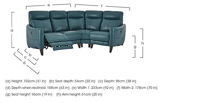 Compact Collection Petit Leather Recliner Corner Sofa in  on Furniture Village