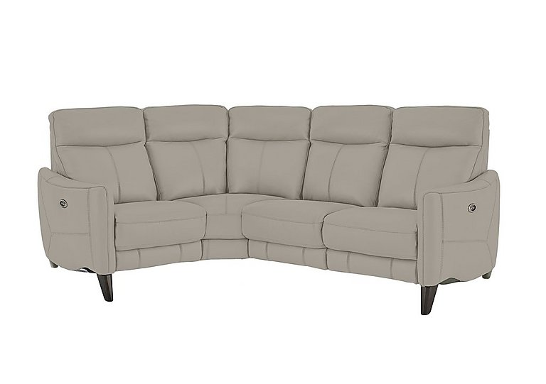 Leather Furniture Traveler Collection: Compact Collection Petit Leather Recliner Corner Sofa
