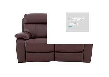 Moreno 2 Seater Leather Recliner Sofa in An-751b Burgundy on Furniture Village