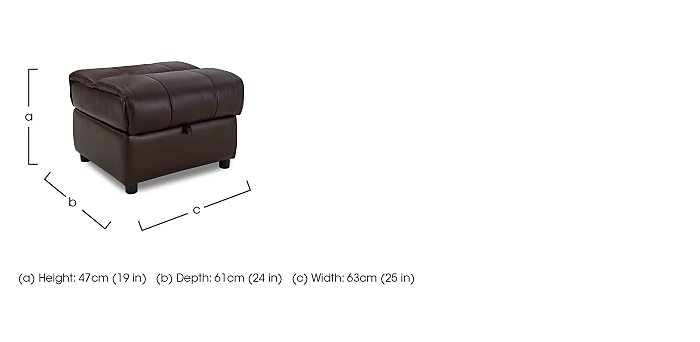 Moreno Leather Storage Footstool in  on Furniture Village