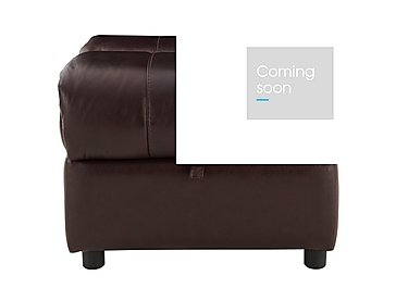 Moreno Leather Storage Footstool in Go-194e Black Cherry on Furniture Village