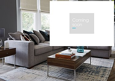 Dune Fabric Corner Pillow Back Sofa with Footstool in  on Furniture Village