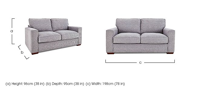 Dune 3 Seater Fabric Sofa in  on Furniture Village