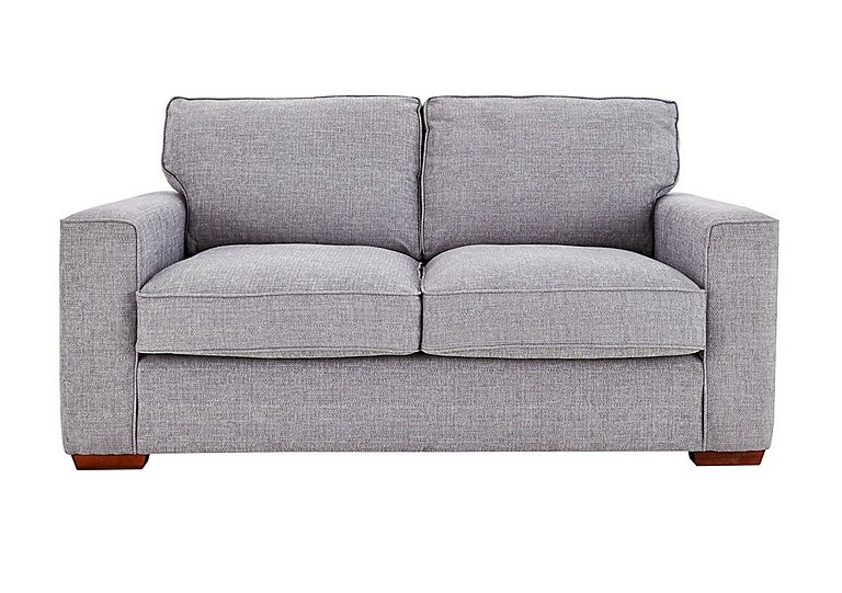 Dune 3 Seater Fabric Sofa in Barley Silver All Over Lt Feet on Furniture Village