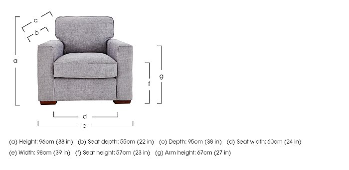 Dune Fabric Armchair in  on Furniture Village