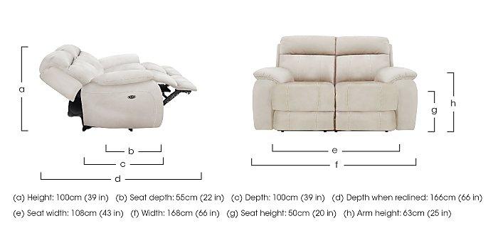 Moreno 2 Seater Fabric Recliner Sofa in  on Furniture Village