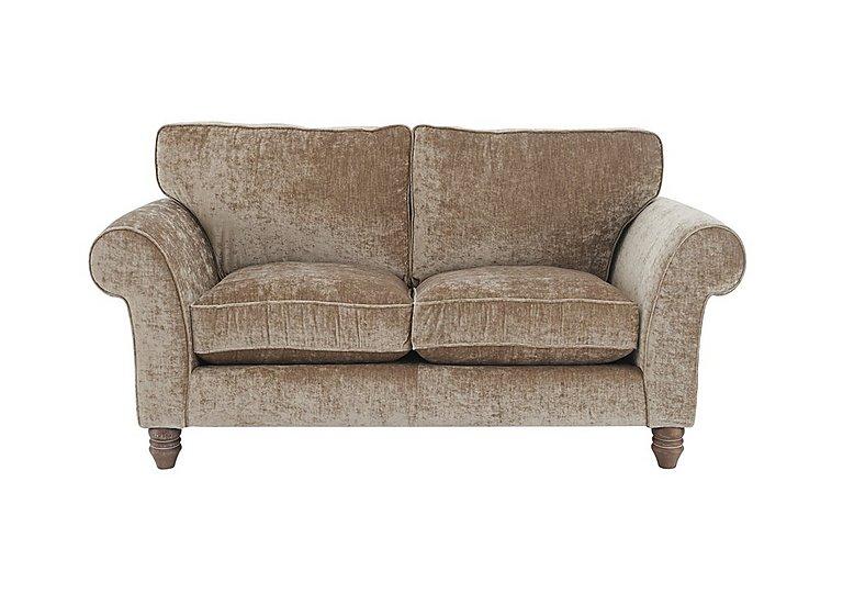 Lancaster 2 Seater Fabric Sofa in Modena Velvet Sand Dk Ft on Furniture Village