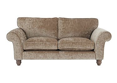 Lancaster 3 Seater Fabric Sofa in Modena Velvet Sand Dk Ft on Furniture Village