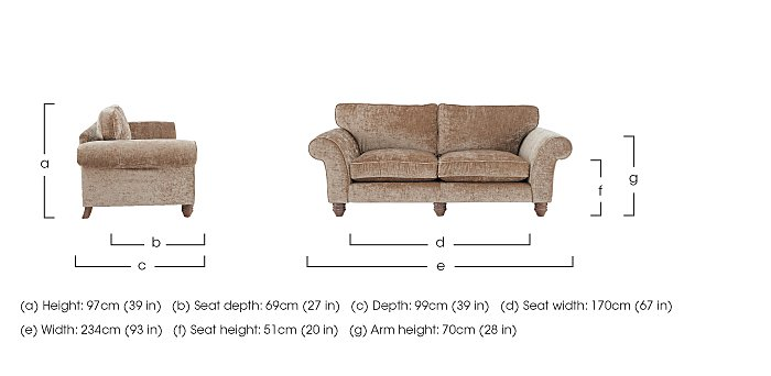 Lancaster 4 Seater Fabric Sofa in  on Furniture Village