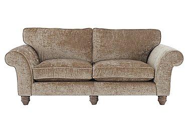Lancaster 4 Seater Fabric Sofa in Modena Velvet Sand Dk Ft on Furniture Village