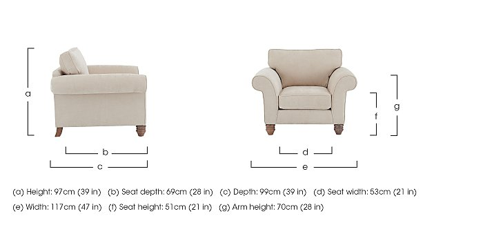 Lancaster Fabric Armchair in  on Furniture Village