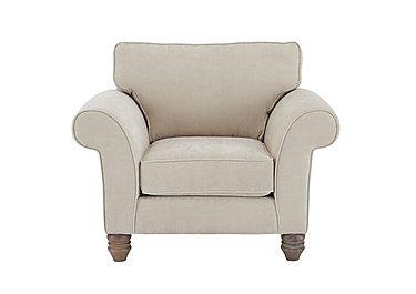Lancaster Fabric Armchair in Sherlock Plain Pearl Dk Ft on Furniture Village