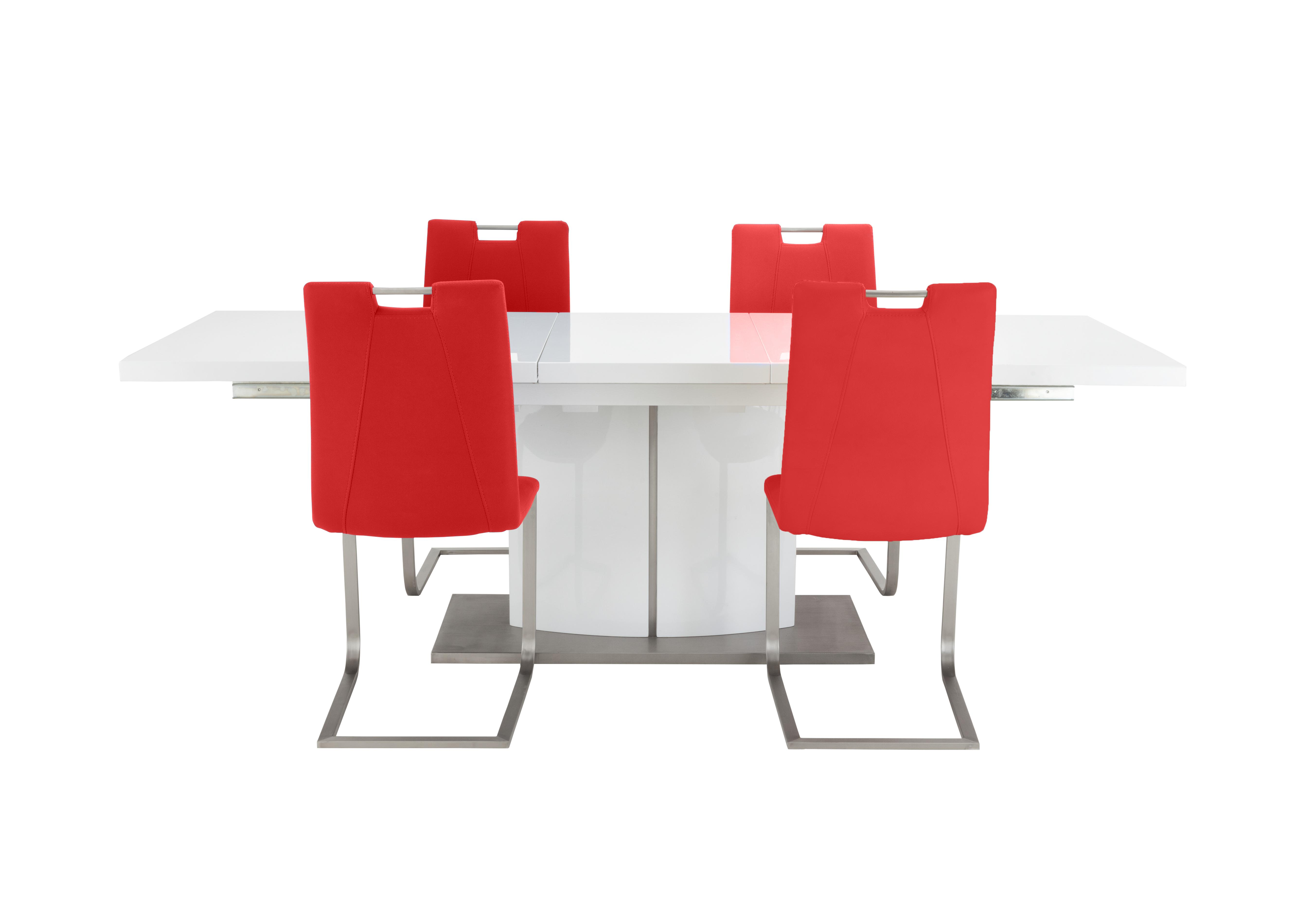 Attrayant Grande White Extending Table And 4 Chairs In Scarlet On Furniture Village