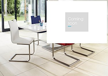 Grande White Extending Table and 4 Chairs in  on Furniture Village