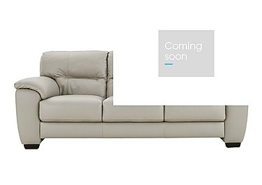 Shades 3 Seater Leather Sofa in Bv-946b Silver Grey on Furniture Village