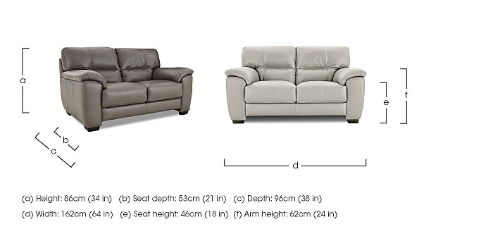 Shades 2 Seater Leather Sofa in  on Furniture Village
