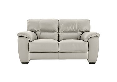 Shades 2 Seater Leather Sofa in Bv-946b Silver Grey on Furniture Village
