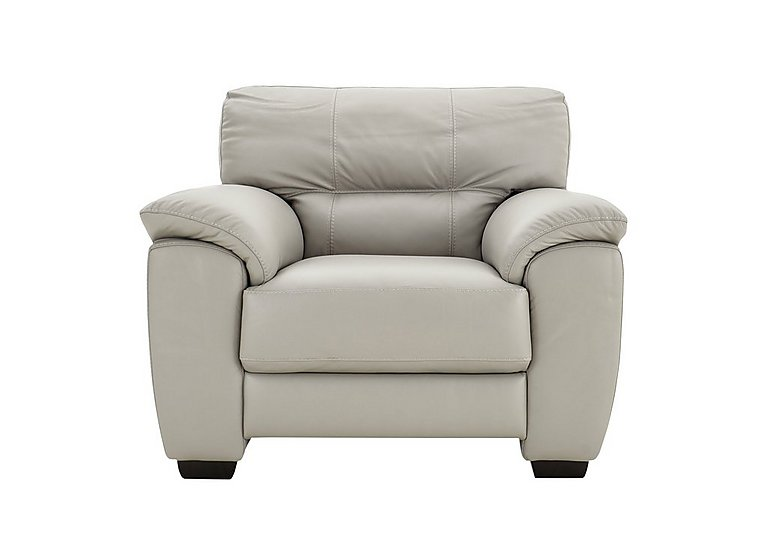Shades Leather Armchair in Bv-946b Silver Grey on Furniture Village