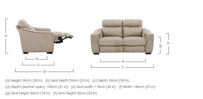 Cressida 2 Seater Fabric Recliner Sofa in  on Furniture Village