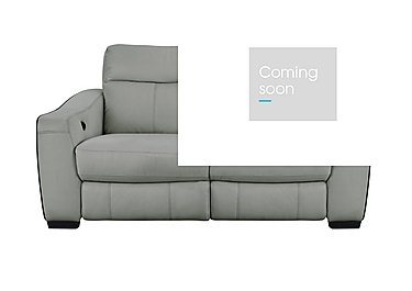Cressida 2 Seater Leather Recliner Sofa in Bv-946b Silver Grey on Furniture Village