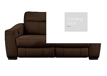 Cressida 3 Seater Leather Sofa Bed in Bv-298a Chocolate on Furniture Village