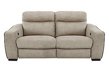 Cressida 3 Seater Fabric Recliner Sofa in Bfa-Blj-R946 Silver Grey on Furniture Village