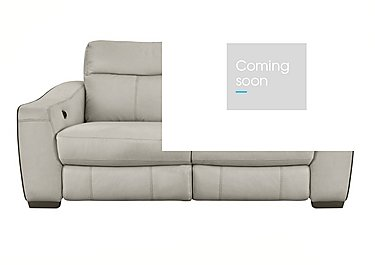 Cressida 3 Seater Leather Recliner Sofa in Bv-946b Silver Grey on Furniture Village