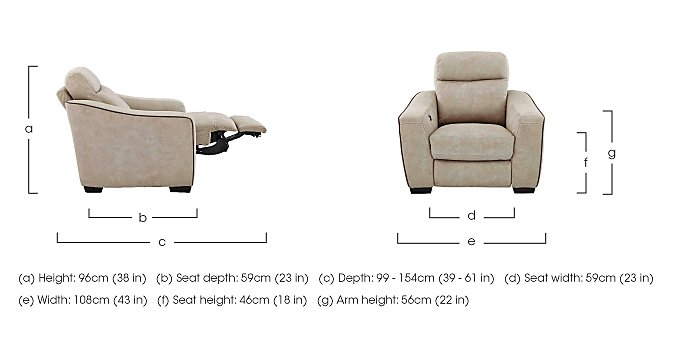 Cressida Fabric Recliner Armchair in  on Furniture Village