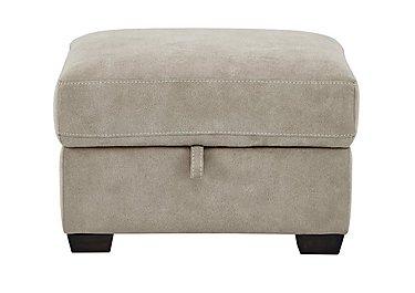 Cressida Fabric Storage Footstool in Bfa-Blj-R946 Silver Grey on Furniture Village