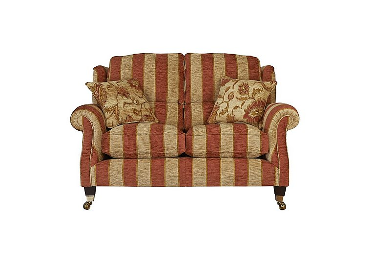 Henley 2 Seater Fabric Sofa in 338-54 Cuba Stripe Sand Claret on Furniture Village