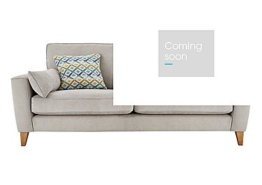 Copenhagen 4 Seater Fabric Sofa in Graceland Silver Light Ft Col2 on Furniture Village
