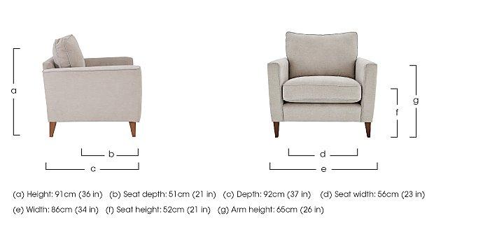 Copenhagen Fabric Armchair in  on Furniture Village